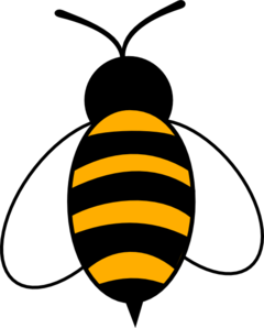 Vector outline bee. Clip art at clker