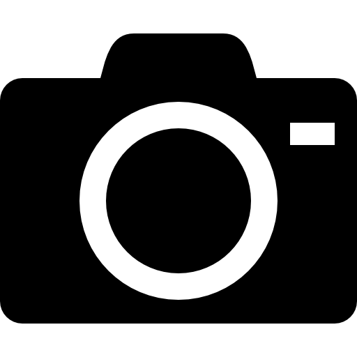 Camara vector vintage camera. With lens outline icons