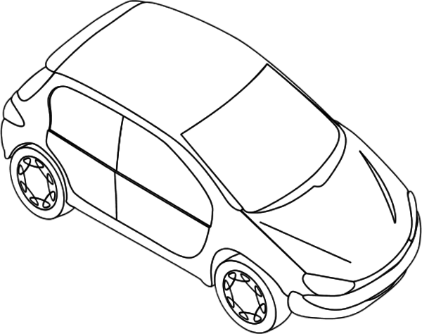 Vector Outline Car Transparent Clipart Free Download
