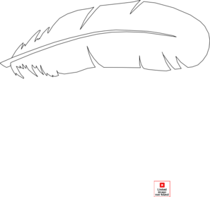Vector outline feather. Clip art at clker