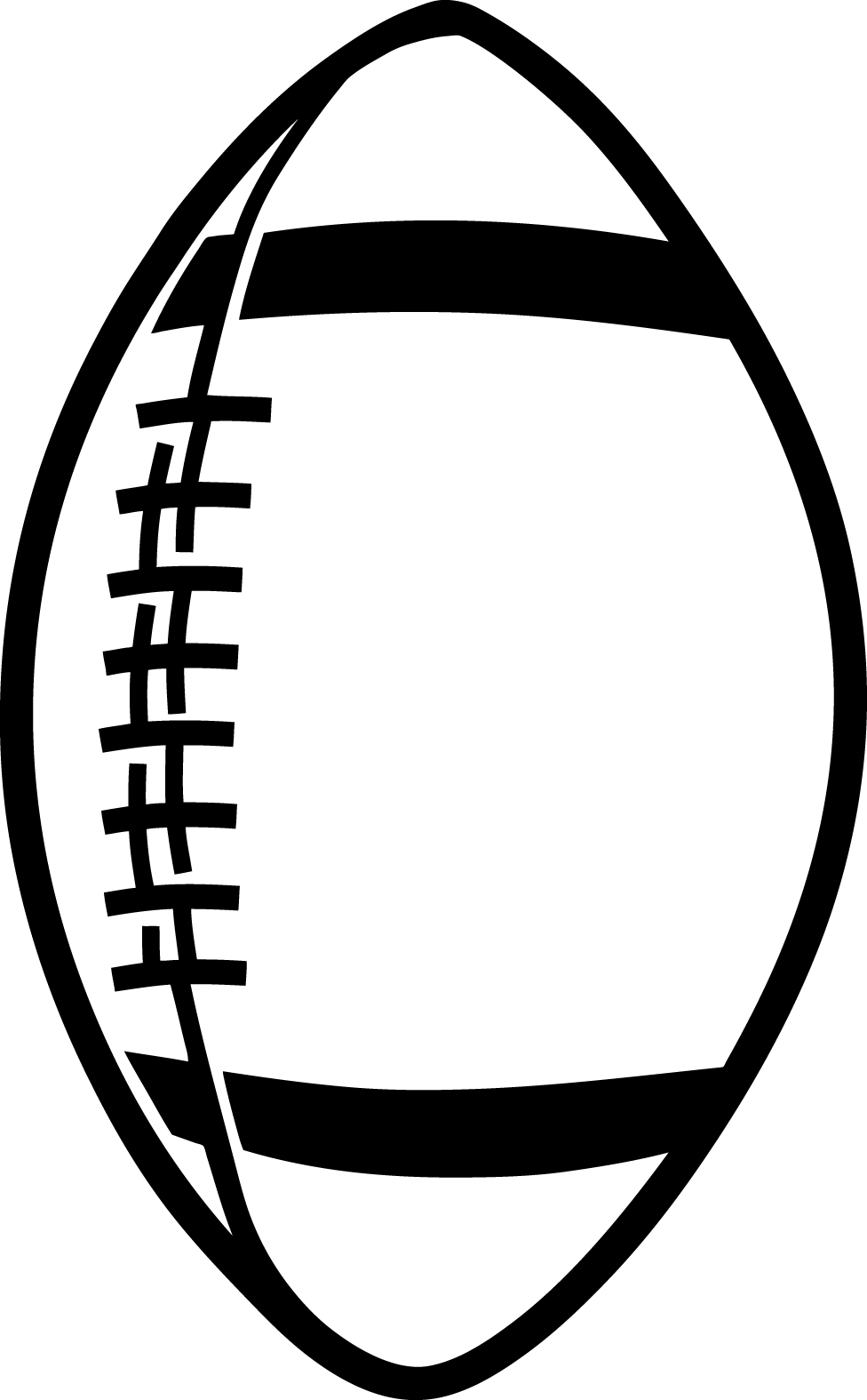 Vector outline football. Free art download clip