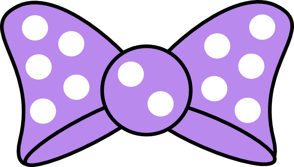 Vector outline lavender. Minnie purple bow clip