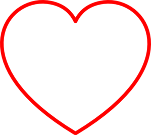 Vector outline red heart. Clip art at clker