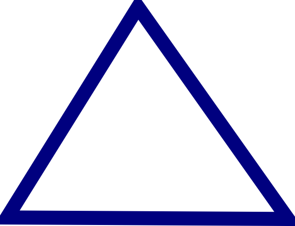 Outline vector triangle. Clean clip art at