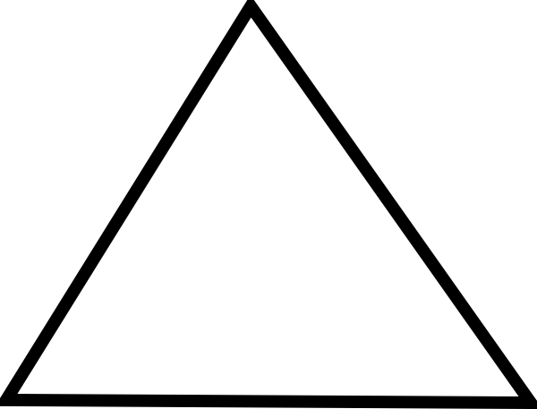 Vector outline triangle. Trianle clip art at