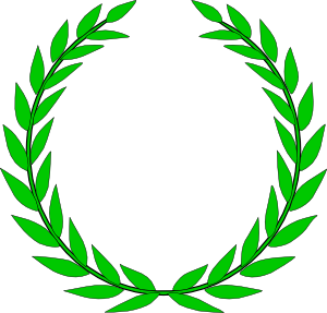 Vector outline wreath. Olive clip art at