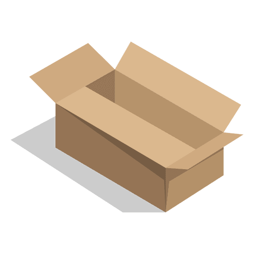 Vector packaging cake box. Cardboard icon transparent png