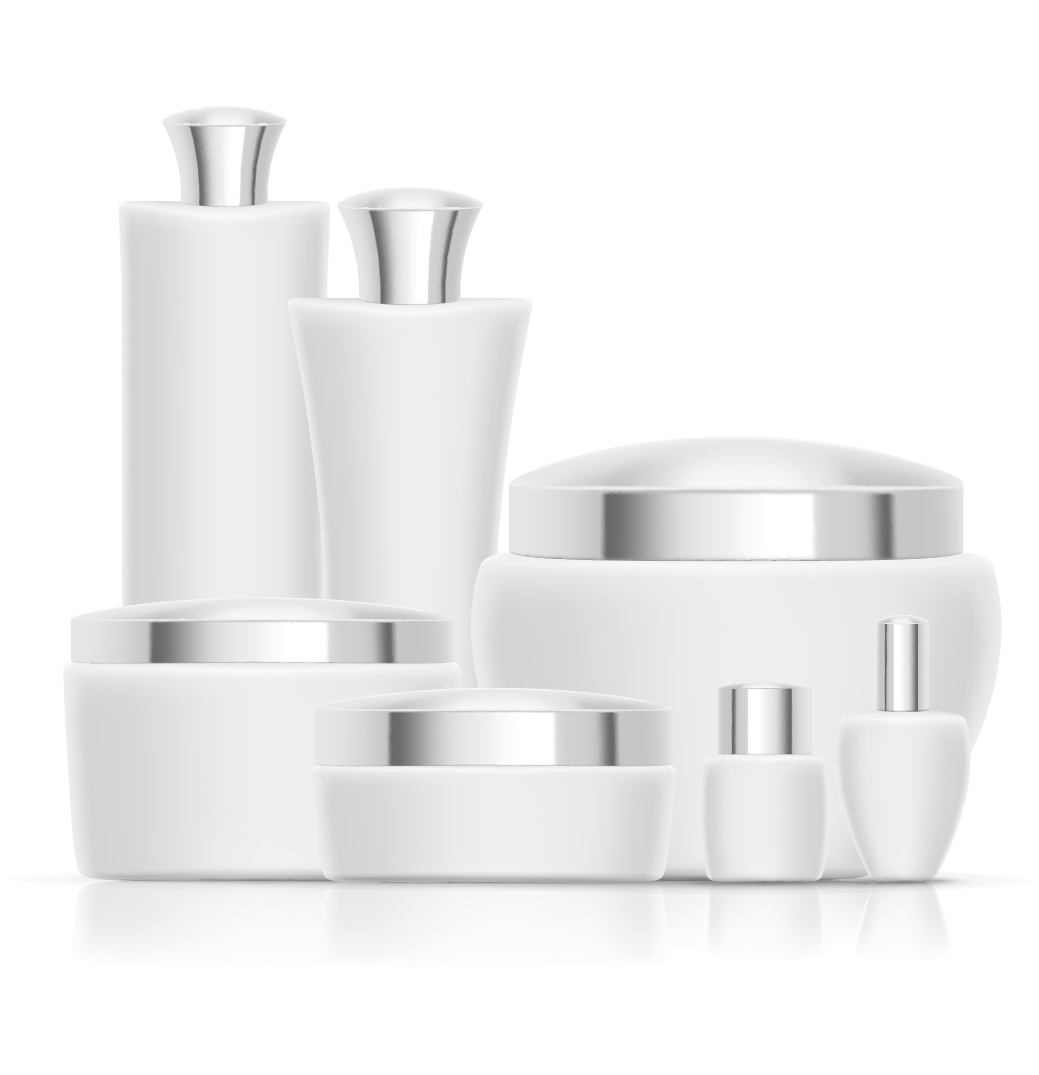 Packaging vector white plastic. Cosmetics and labeling female