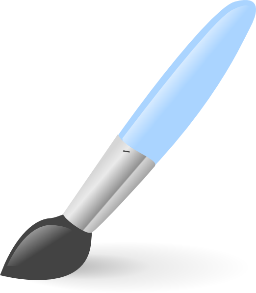 Vector paintbrush kuas. Artist paint brush clipart
