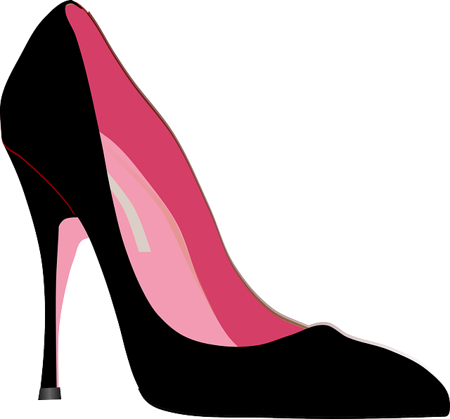Vector pair heel shoes. Free image on pixabay