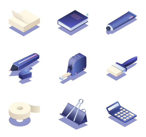 Boulder vector isometric. Paper icons free stationery