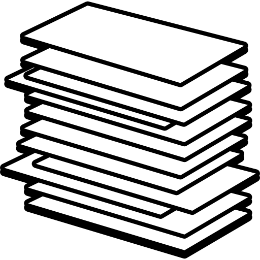 Page vector papers. Pile of paper vectors