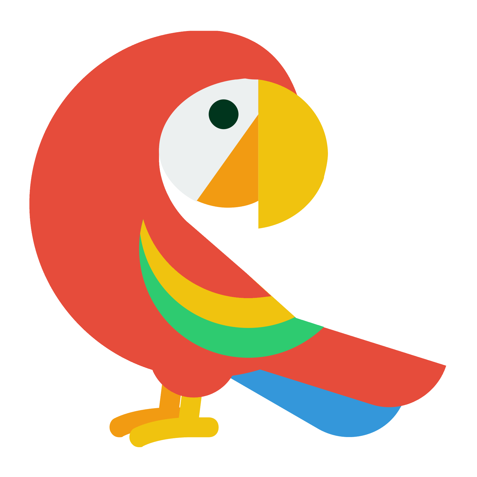 Vector parrot. Icon free download png