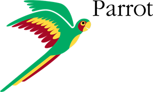 Vector parrot. Logo eps free download