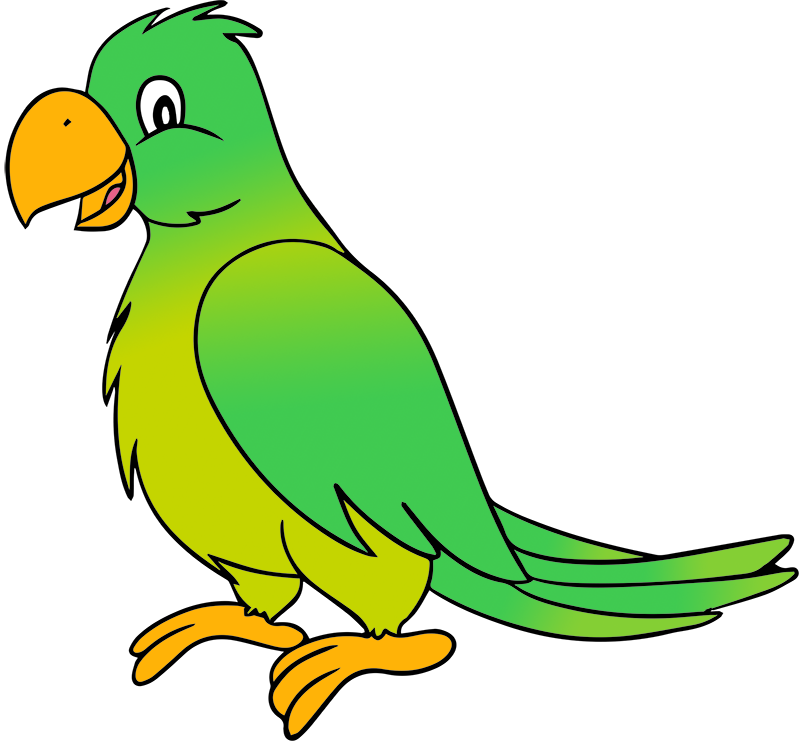 Vector parrot cute. Clip art free