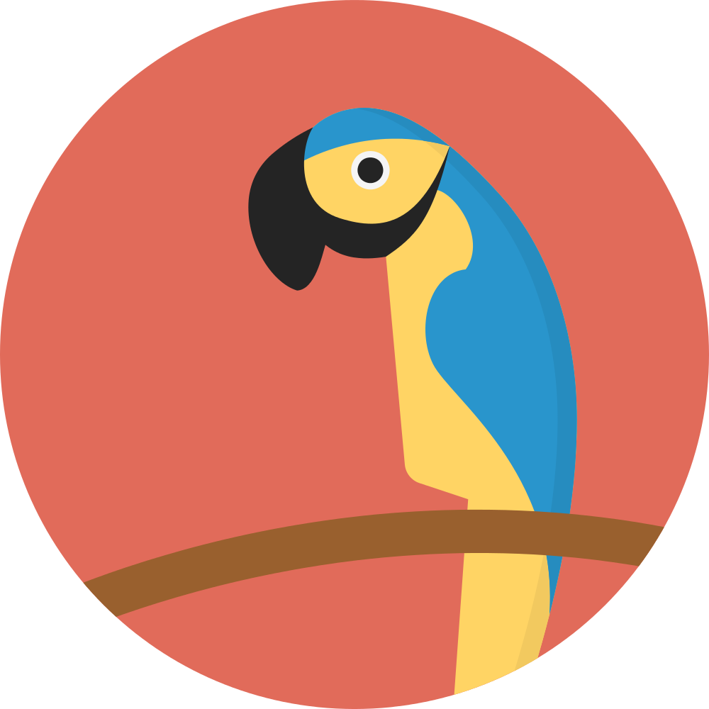 Vector parrot flat. File creative tail animal