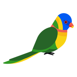 Vector parrot jungle. Beautiful macaw illustration download