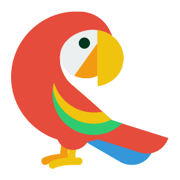 Vector parrot jungle. Icon free download png