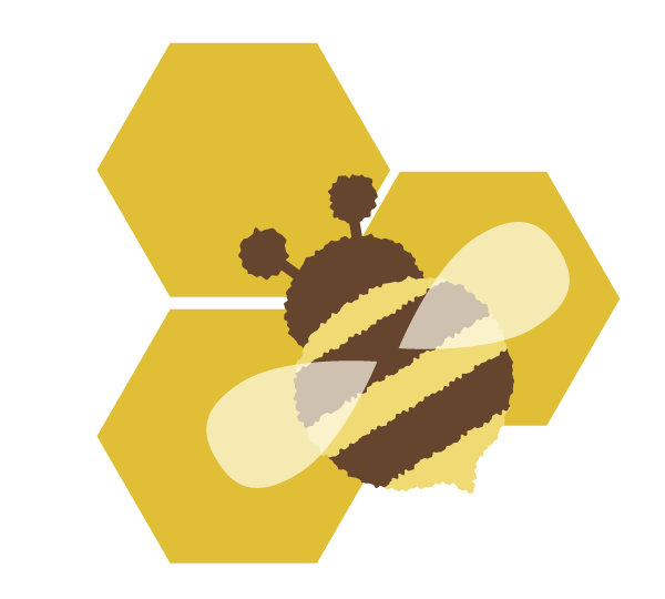 Vector path bee. How to create a