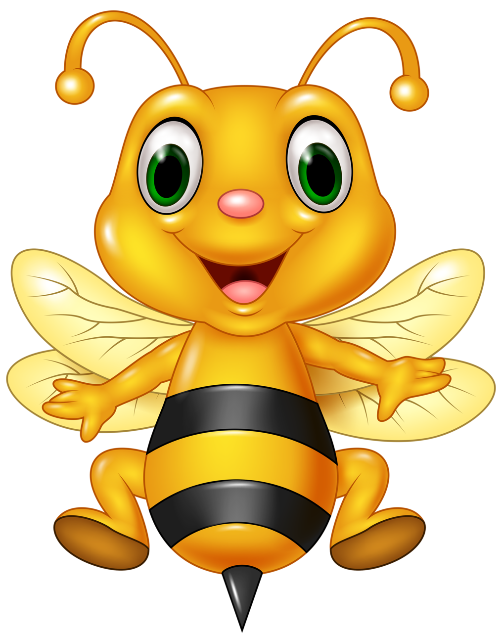 Wasp vector angry cartoon. Funny animals png bees