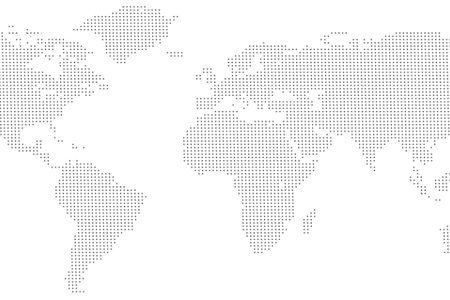 Vector paths dotted. Dot world map path
