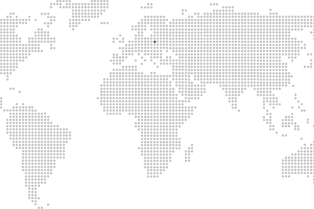 Vector paths dotted. World map png path