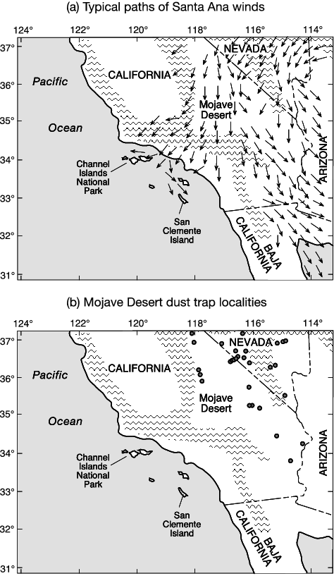 Vector paths wind. Cdeefe california map with