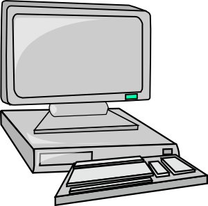 Vector pc computador. Desktop computer clip art