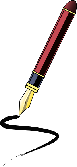 Vector pens ancient. Collection of free detailed