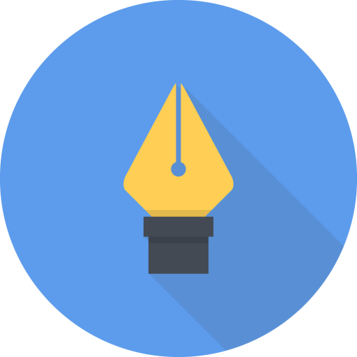 Vector pens flat. Pen tool icon free