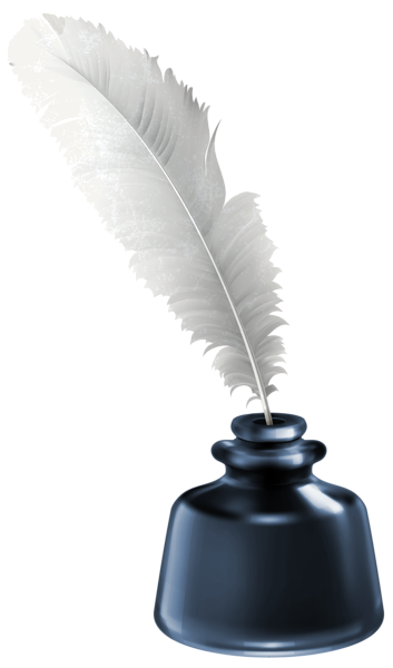 Quill and blue ink. Vector pens jar svg free library