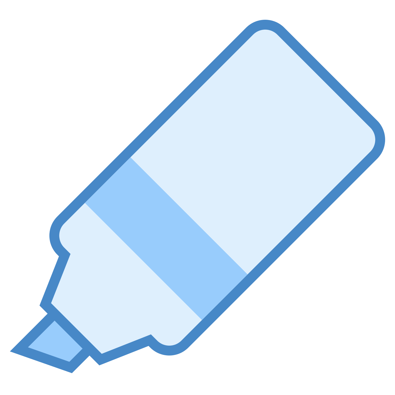 Marker vector blue. Pen icon free download