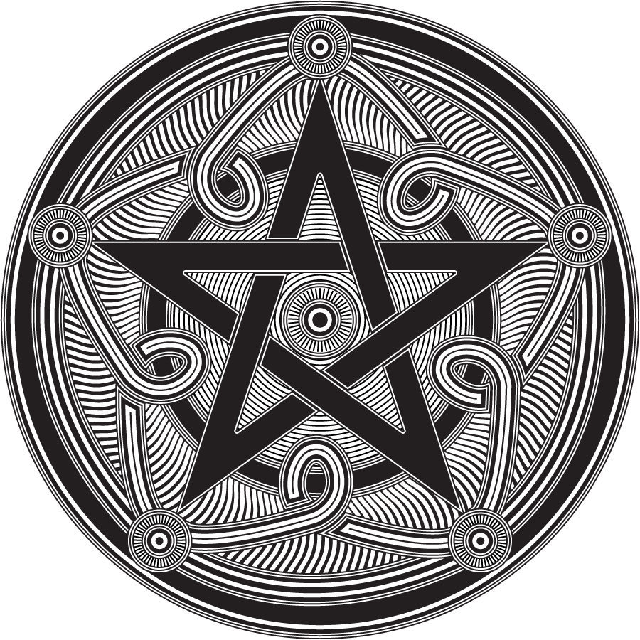 Celtic tattoo designs wiccan. Vector pentagram color graphic free