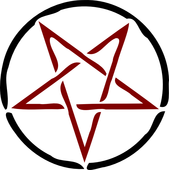 Vector pentagram large. Clip art at clker