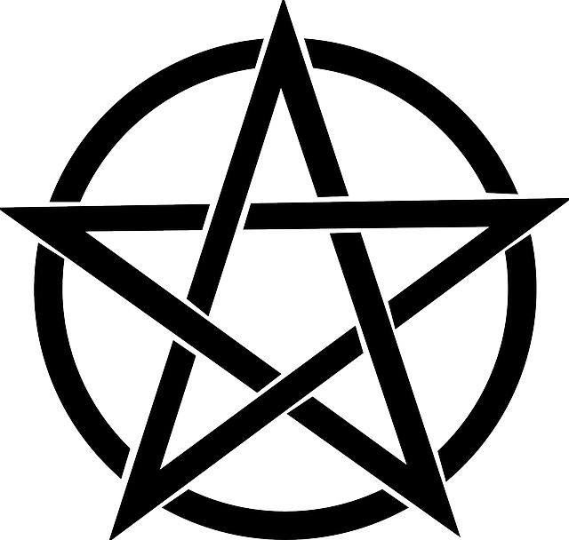 Vector pentagram nordic. First lesson in wicca