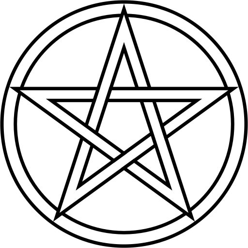 Vector pentagram pentacle. File svg wikimedia commons