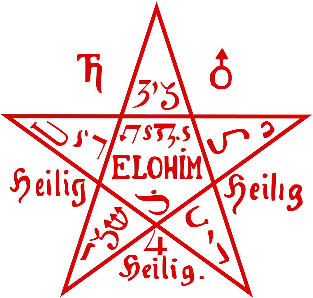 Pentacle vector svg. File from the sixth