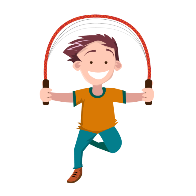 Vector people png. Children jumping rope kids