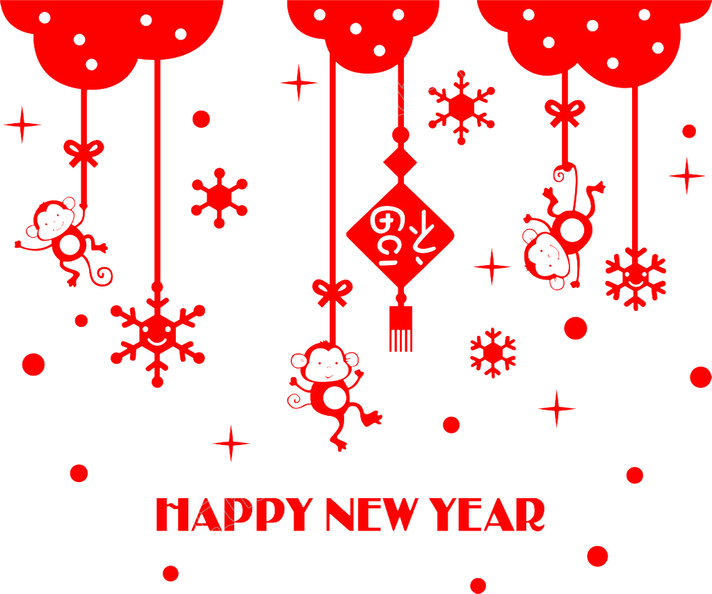 Vector pict element. New year red festive