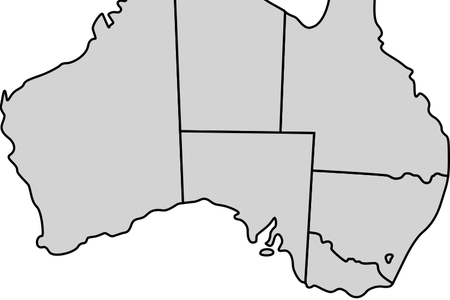 Australia map png full. Vector pict simple image black and white stock