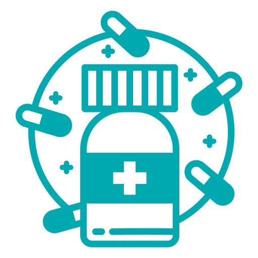Vector pills round pill. Bottle icon transparent png