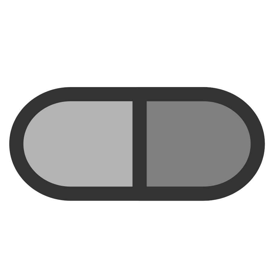 Vector pills black and white. Clip art download