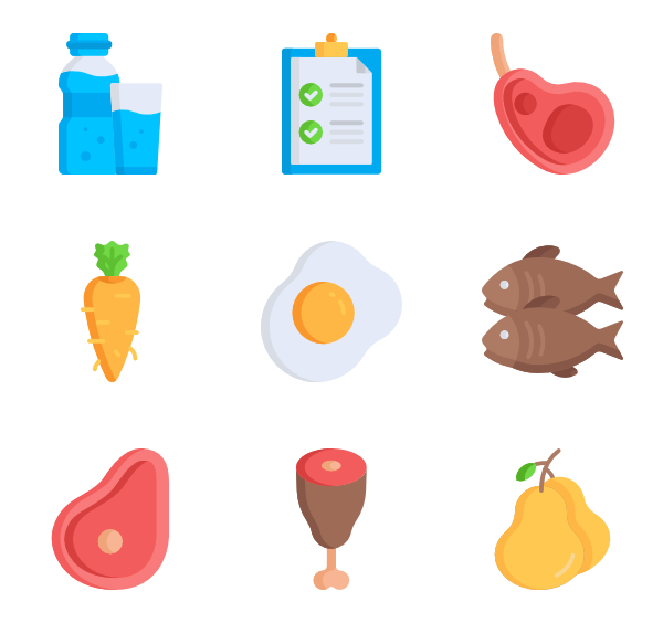 Vector vegetables flat. Vitamins icons free nutrition