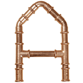 Vector pipes copper pipe. Font handmadefont