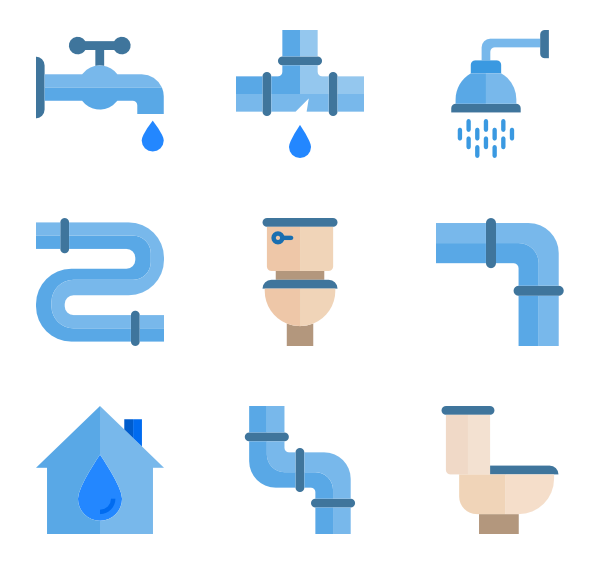 Vector pipes icon. Icons free plumber tools