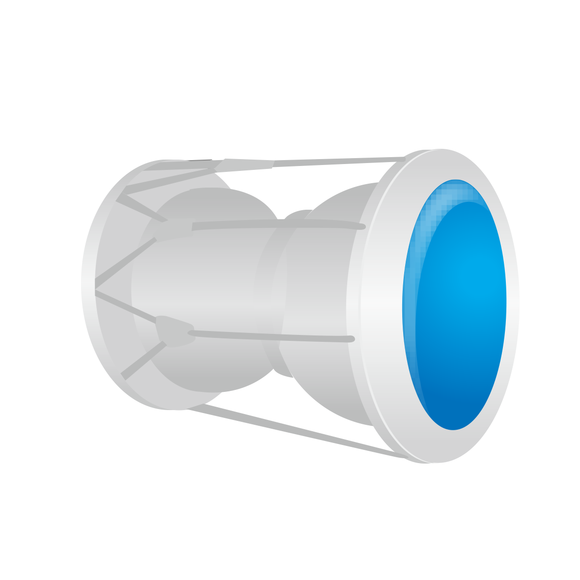 Vector pipe plastic. Water hose connector model