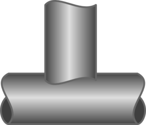 Vector pipes metal pipe. T junction clip art