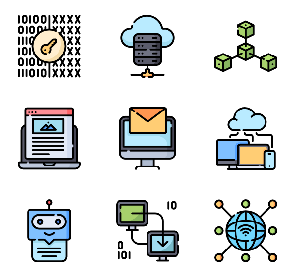 Icons free internet technology. Vector planet clip art library download