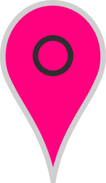 Vector pointers maps google. Map pointer pink clip