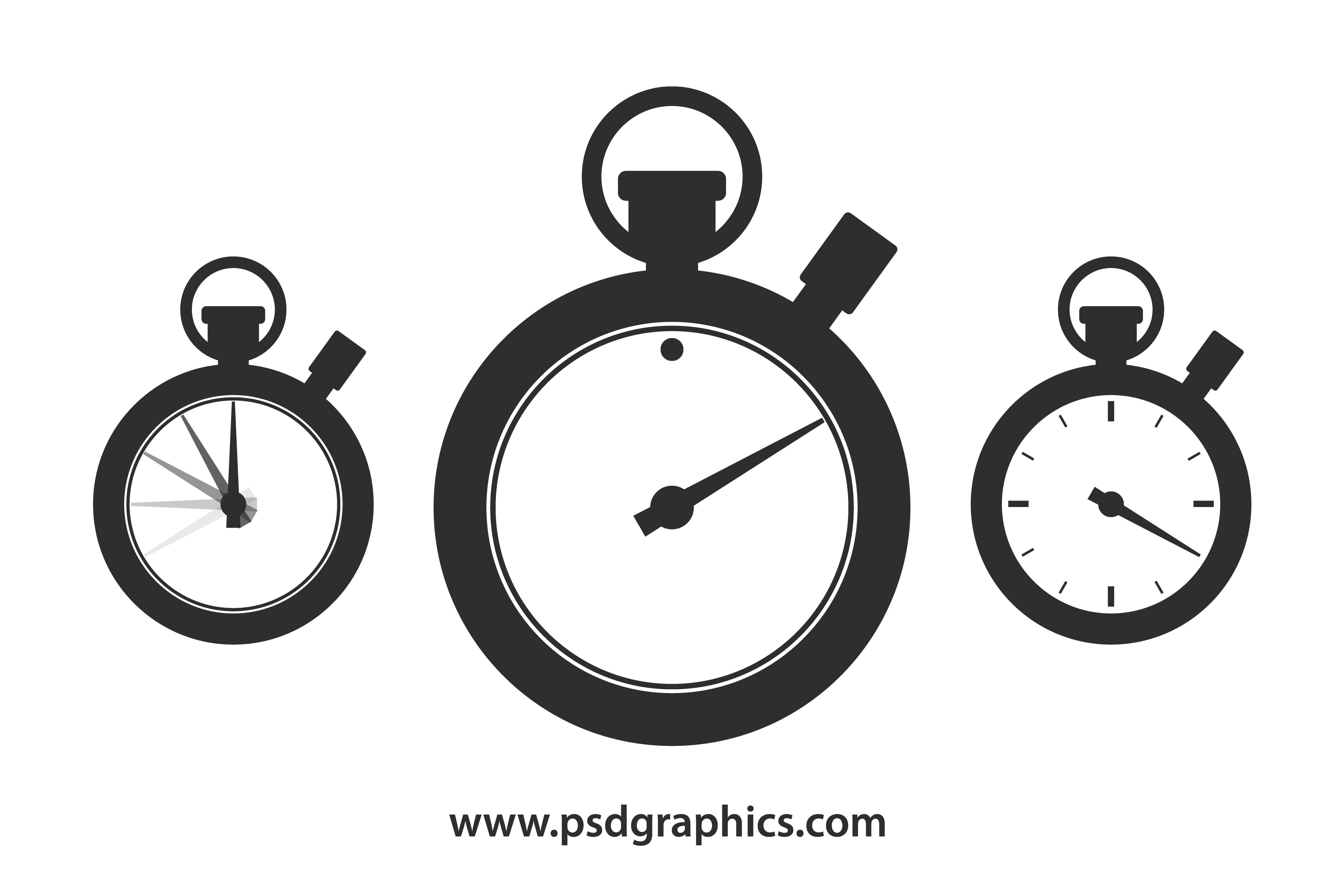 Vector pointers psd. Stopwatch shape template psdgraphics